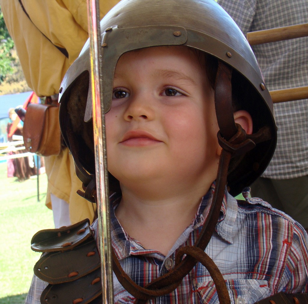 Ruben in armour